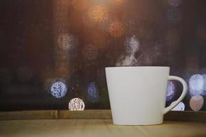 Coffee on bokeh