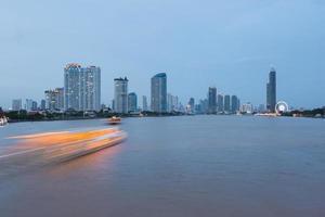 Bangkok city in twilight photo