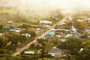 Village in the morning