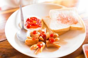 Western breakfast in the morning