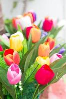 colorido ramo de tulipanes foto