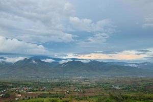 Mountains and forests in Thailand photo