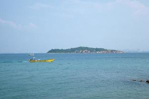 Small boat on the sea in Thailand photo