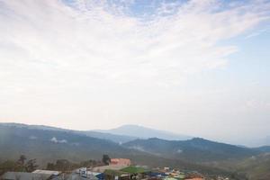 pueblo en las montañas en tailandia