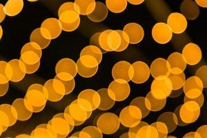 Orange bokeh light photo
