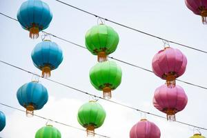 Lantern decorations for Chinese New Year