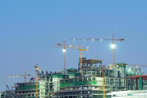 Grúas de construcción en Bangkok, Tailandia