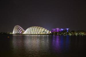 super árboles y edificios en singapur