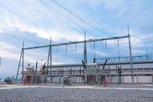 High voltage transmission station photo
