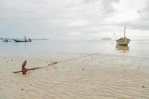 Anchor resting on the beach in Thailand