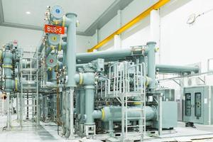 Pipes in the power station in Thailand photo