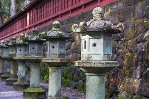 Stone lanterns in Japan photo