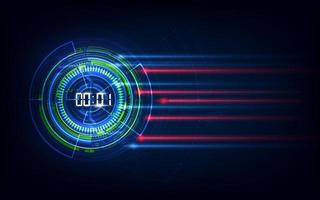 Abstract Futuristic Technology Background with Digital number timer concept and countdown, vector transparent