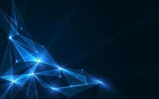 Fondo de vector de plexo de polígonos conectados, visualización de datos digitales. ilustración vectorial