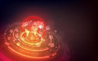 interfaz de globalización futurista, un sentido de ciencia y tecnología gráficos abstractos. vector