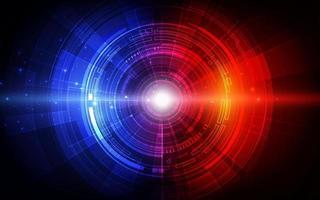 Fondo de tecnología digital futurista abstracto. vector