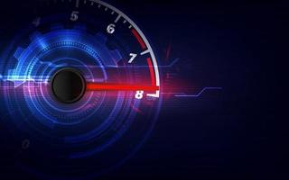 Speed motion background with fast speedometer car. Racing velocity background. vector