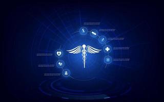 Fondo de concepto de innovación de tecnología médica vector