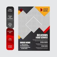 Breakfast flyer for restaurant food