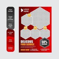 Delicious Food Brochure or Flyer Design vector