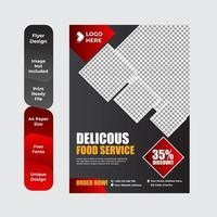 Buffet Delicious Food Brochure or Flyer Design vector