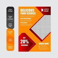 Menú de restaurante, folleto, plantilla de diseño de volante. vector