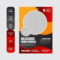 Diseño de plantilla de folleto de volante de restaurante de comida creativa vector