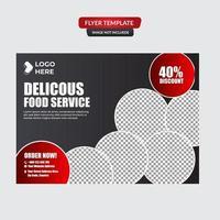 Elegant restaurant flyer template vector