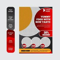Restaurant menu brochure flyer design template vector