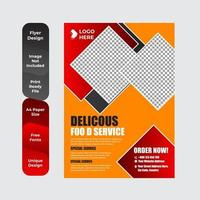 Healthy food restaurant poster template vector