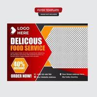 Plantilla de vector de diseño de folleto de menú de comida rápida