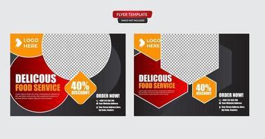 plantilla de promoción de volante de comida de restaurante vector