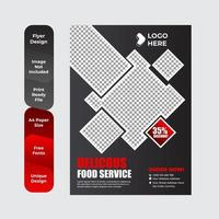 Flyer template for breakfast restaurant business flyer