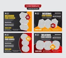 conjunto de plantillas de material de marketing de alimentos y bebidas vector
