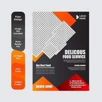 Restaurant menu, brochure, flyer design template vector