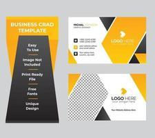 tarjeta de visita mínima corporativa con plantilla abstracta moderna vector
