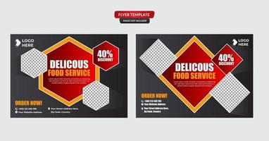 plantilla de diseño de menú vector