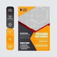 Delicious food template design for restaurants vector