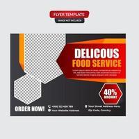 Fast food menu brochure design vector template