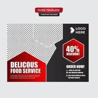 Modern gourmet restaurant flyer template vector