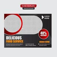 Healthy food restaurant poster design vector