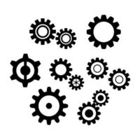 Set Of Gears On White Background vector