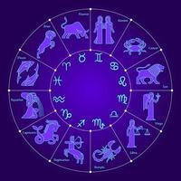 círculo con los signos del zodíaco vector