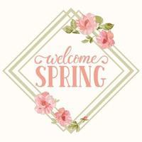 Spring banner design vector