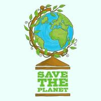 Save our planet earth poster vector