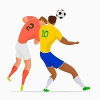 jugadores de futbol en accion vector