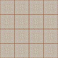 White ornament on the brown background. Seamless pattern vector