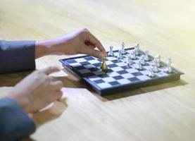 Person playing chess photo