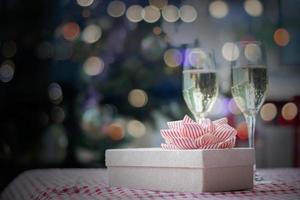 concepto de bebida de fiesta de navidad foto