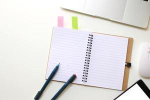Spiral notebook on desk
